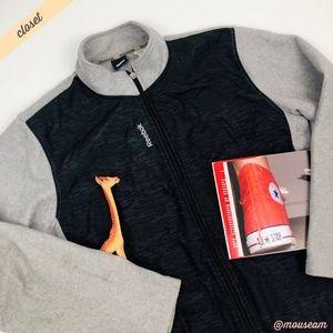 [Reebok] Men's Gray/Black Full Zip Fleece Jacket